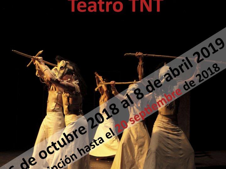 Se abre el periodo de inscripción para el XX Laboratorio de Teatro TNT