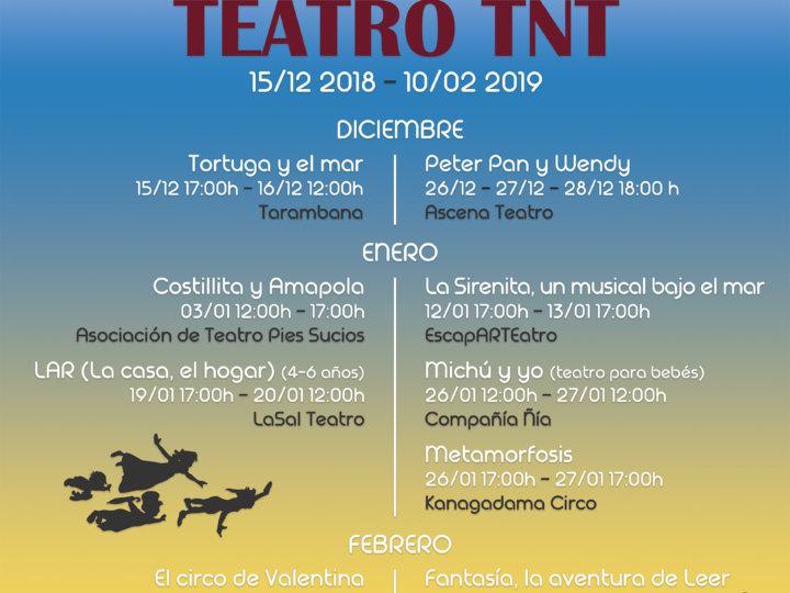 La II Muestra de Teatro Infantil y Familiar se inaugurará el 15 diciembre y tendrá lugar hasta el 10 de febrero