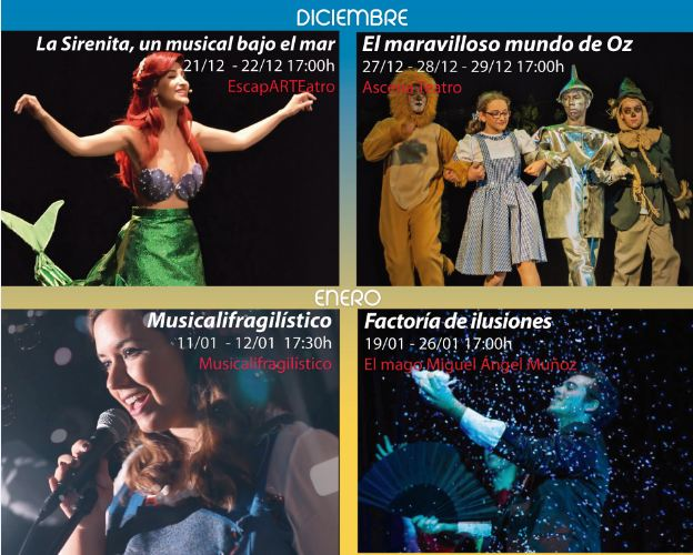 """La III Muestra de Teatro Infantil y Familiar llega este fin de semana a TNT con todo un clásico """"La Sirenita, un musical bajo el mar"""""""